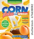 realistic corn flakes in big... | Shutterstock . vector #676638082