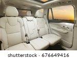 back passenger seats in modern... | Shutterstock . vector #676649416