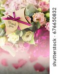 gratitude and flowers with copy ... | Shutterstock . vector #676650832