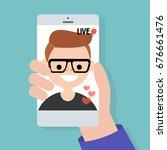 live stream. live translation... | Shutterstock .eps vector #676661476