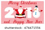 merry christmas and happy new... | Shutterstock .eps vector #676671556