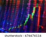 technical candlestick price... | Shutterstock . vector #676676116