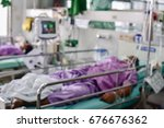 blurred  of patient  with... | Shutterstock . vector #676676362