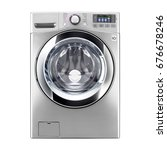 washing machine isolated on a... | Shutterstock . vector #676678246