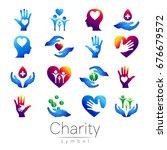 vector illustration. set symbol ... | Shutterstock .eps vector #676679572