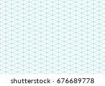 isometric grid | Shutterstock .eps vector #676689778
