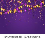 halloween violet background... | Shutterstock .eps vector #676690546