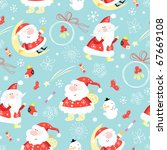 Seamless Pattern Santa Claus