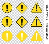 warning icon. isolated set. | Shutterstock .eps vector #676691986