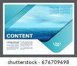 seascape and blue sky... | Shutterstock .eps vector #676709698