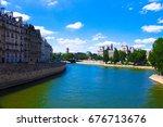 paris  france  july 6  2016 ... | Shutterstock . vector #676713676