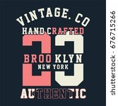 graphic brooklyn for shirt and... | Shutterstock .eps vector #676715266