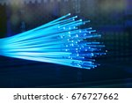 fiber optic cables - stock photo