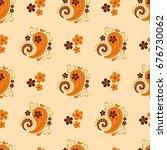 paisley seamless pattern ...   Shutterstock .eps vector #676730062