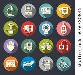 medical equipment icon set   Shutterstock .eps vector #676730845