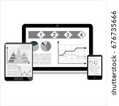 web analytics information and... | Shutterstock .eps vector #676735666