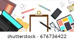 time management banner....   Shutterstock .eps vector #676736422