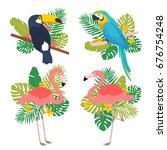 set of four illustrations of... | Shutterstock .eps vector #676754248