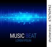music beat vector. blue lights... | Shutterstock .eps vector #676760962
