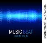 music beat vector. blue lights... | Shutterstock .eps vector #676760986