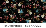 seamless floral pattern in... | Shutterstock .eps vector #676777222