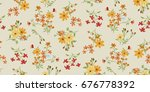 seamless floral pattern in... | Shutterstock .eps vector #676778392