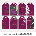 hand drawn creative tags.... | Shutterstock .eps vector #676787056
