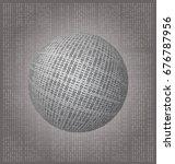 abstract binary ball  vector... | Shutterstock .eps vector #676787956