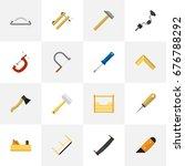 set of 16 editable equipment...