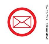 envelope icon in trendy flat...