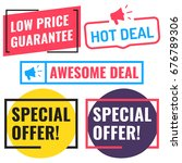 special offer  awesome deal ... | Shutterstock .eps vector #676789306