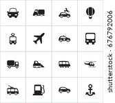set of 16 editable transport...