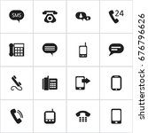 set of 16 editable phone icons. ... | Shutterstock .eps vector #676796626