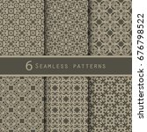 a pack of vintage pattern... | Shutterstock .eps vector #676798522