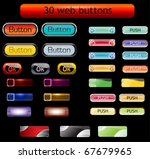 30 web buttons  vector set. | Shutterstock .eps vector #67679965