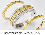 ring in gold with yellow... | Shutterstock . vector #676801702