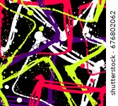 grunge splatter background. ink ... | Shutterstock .eps vector #676802062
