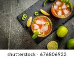 alcohol. traditional mexican... | Shutterstock . vector #676806922