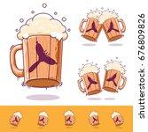 beer mug  beer icon oktoberfest ... | Shutterstock .eps vector #676809826