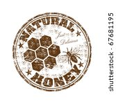 brown grunge rubber stamp with...   Shutterstock .eps vector #67681195