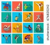 hockey  tennis  boxing sports... | Shutterstock . vector #676820242