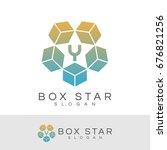 box star initial letter y logo... | Shutterstock .eps vector #676821256