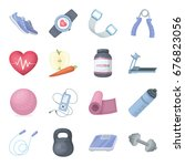 jump rope  ball  scales other... | Shutterstock . vector #676823056