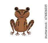 Single Frog With Brown Skin...