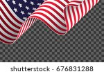 cropped waving american flag on ... | Shutterstock .eps vector #676831288