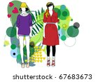 woman and fashion | Shutterstock .eps vector #67683673