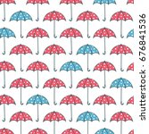 seamless pattern with red and... | Shutterstock .eps vector #676841536
