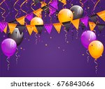 halloween violet background... | Shutterstock .eps vector #676843066