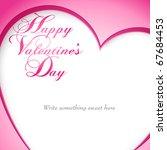 happy valentine's day vector... | Shutterstock .eps vector #67684453