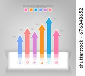 infographic template of steps... | Shutterstock .eps vector #676848652